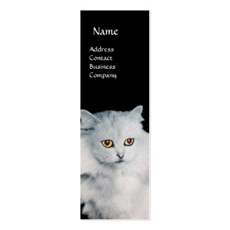 THE QUEEN OF WHITE CATS MONOGRAM MINI BUSINESS CARD