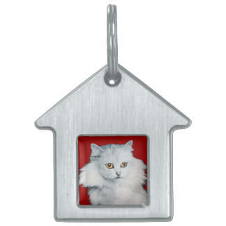 THE QUEEN OF WHITE CATS,red Pet ID Tag