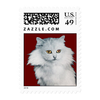 THE QUEEN OFF WHITE CATS, red Postage