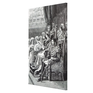 The Queen Opening Parliament in 1846 Canvas Print