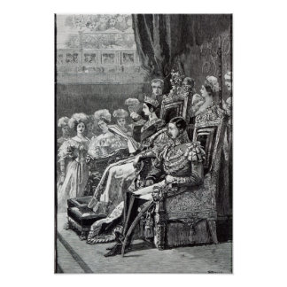 The Queen Opening Parliament in 1846 Poster