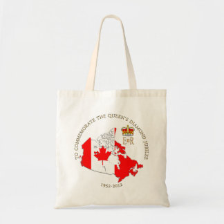 The Queen s Diamond Jubilee - Canada Canvas Bags
