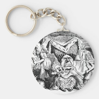The Queen, The Cook and Alice in Wonderland Basic Round Button Keychain