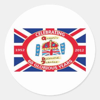 The Queen's Diamond Jubilee Classic Round Sticker