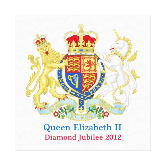 The Queen's Diamond Jubilee Crest Canvas Print
