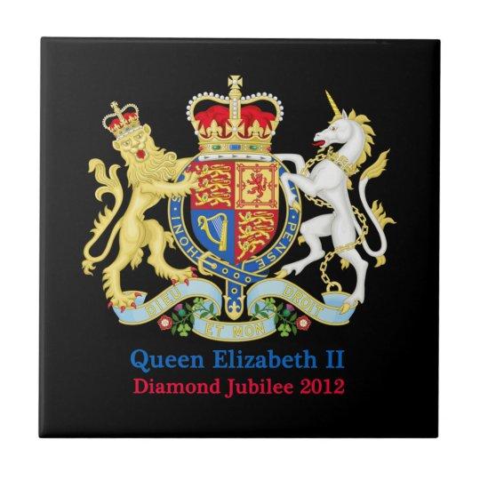The Queen's Diamond Jubilee Crest Ceramic Tile