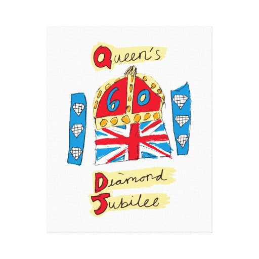 The Queen's Diamond Jubilee Emblem Canvas Print