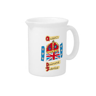 The Queen's Diamond Jubilee Emblem Drink Pitcher