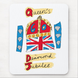 The Queen's Diamond Jubilee Emblem Mouse Pad