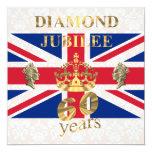 The Queens Diamond Jubilee 5.25x5.25 Square Paper Invitation Card