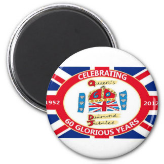 The Queen's Diamond Jubilee 2 Inch Round Magnet