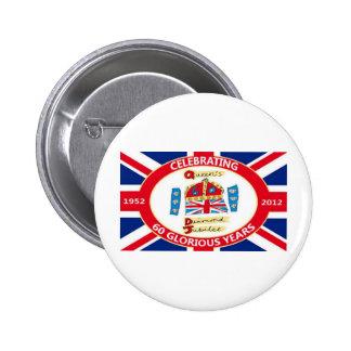 The Queen's Diamond Jubilee Pinback Button