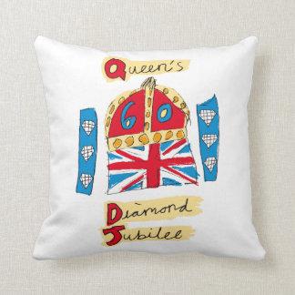 The Queen's Diamond Jubilee Throw Pillow