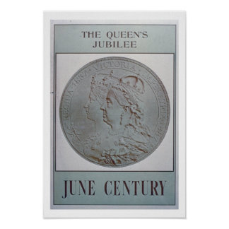 'The Queen's Jubilee 1837-87' (colour litho) Poster