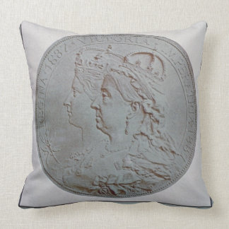 'The Queen's Jubilee 1837-87' (colour litho) Throw Pillow