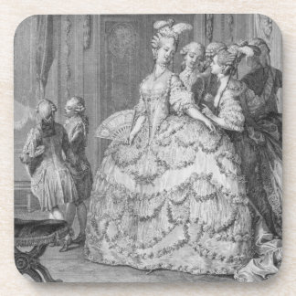 The Queen's Lady-in-Waiting, engraved by P.A. Mart Coaster