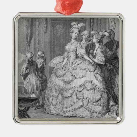 The Queen's Lady-in-Waiting, engraved by P.A. Mart Metal Ornament