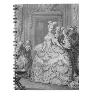 The Queen's Lady-in-Waiting, engraved by P.A. Mart Notebook