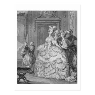 The Queen's Lady-in-Waiting, engraved by P.A. Mart Postcard