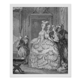 The Queen's Lady-in-Waiting, engraved by P.A. Mart Poster