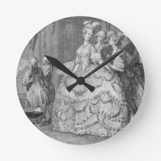 The Queen's Lady-in-Waiting, engraved by P.A. Mart Round Clock