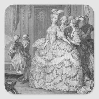 The Queen's Lady-in-Waiting, engraved by P.A. Mart Square Sticker