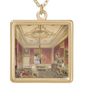 The Queen's Private Sitting Room, Windsor Castle, Gold Plated Necklace