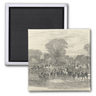 The Queen's Stag Hounds: The Meet, Aylesbury 2 Inch Square Magnet