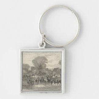 The Queen's Stag Hounds: The Meet, Aylesbury Keychain