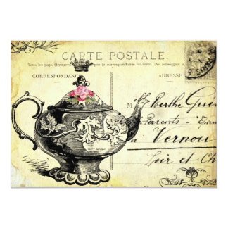 """tHe QUeeN's TeA PaRTy 5"""" X 7"""" Invitation Card"""