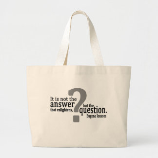 The Question Enlightens Bag in Black and Grey