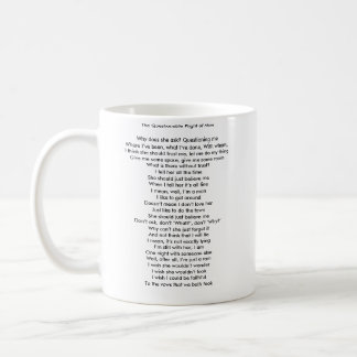 The Questionable Plight of Man mug