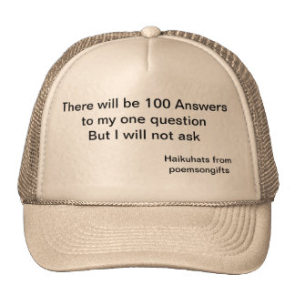 The Questions Haiku Hats From Poems on Gifts