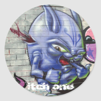 The Queue Jumper Round Sticker