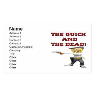 The Quick And The Dead Double-Sided Standard Business Cards (Pack Of 100)