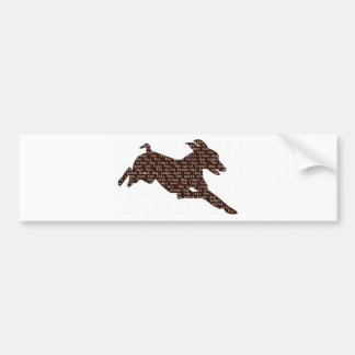 """The quick brown """"dog"""" jumps over the lazy """"fox"""" car bumper sticker"""