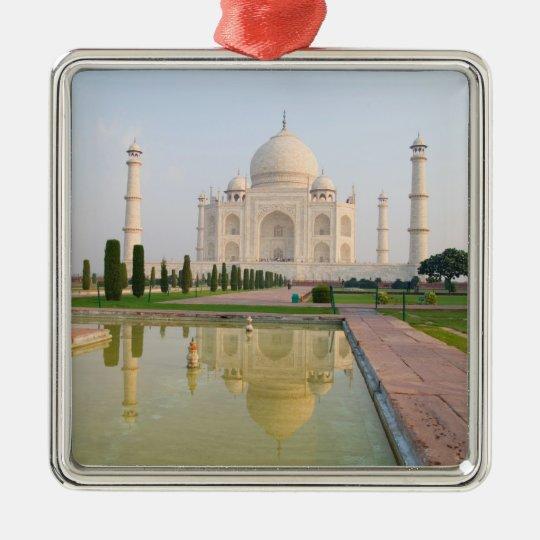 The quiet peaceful Taj Mahal at sunrise one of Metal Ornament