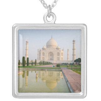 The quiet peaceful Taj Mahal at sunrise one of Square Pendant Necklace