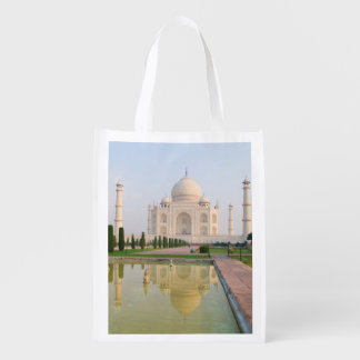 The quiet peaceful Taj Mahal at sunrise one of Grocery Bags