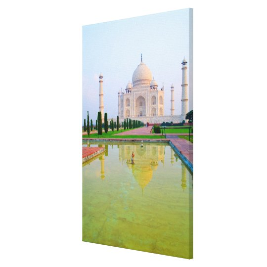 The quiet peaceful World Famous Taj Mahal at Canvas Print