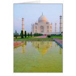 The quiet peaceful World Famous Taj Mahal at Greeting Card