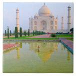 The quiet peaceful World Famous Taj Mahal at Large Square Tile