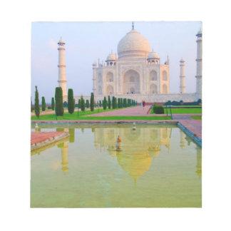 The quiet peaceful World Famous Taj Mahal at Notepad