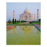 The quiet peaceful World Famous Taj Mahal at Poster