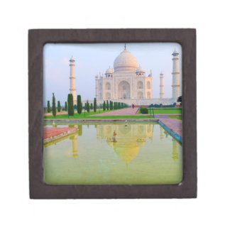 The quiet peaceful World Famous Taj Mahal at Premium Keepsake Boxes