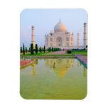 The quiet peaceful World Famous Taj Mahal at Rectangle Magnets