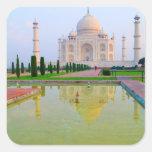 The quiet peaceful World Famous Taj Mahal at Square Sticker