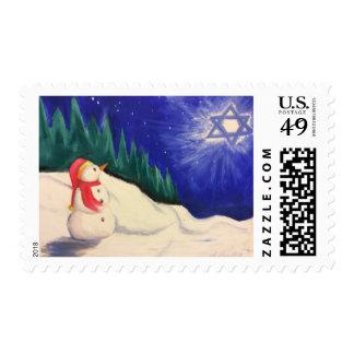 The quiet snowman postage