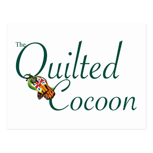 The Quilted Cocoon Logo Postcard
