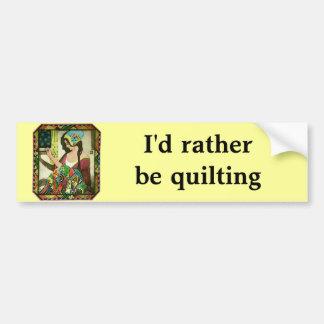 The Quilter Bumper Sticker